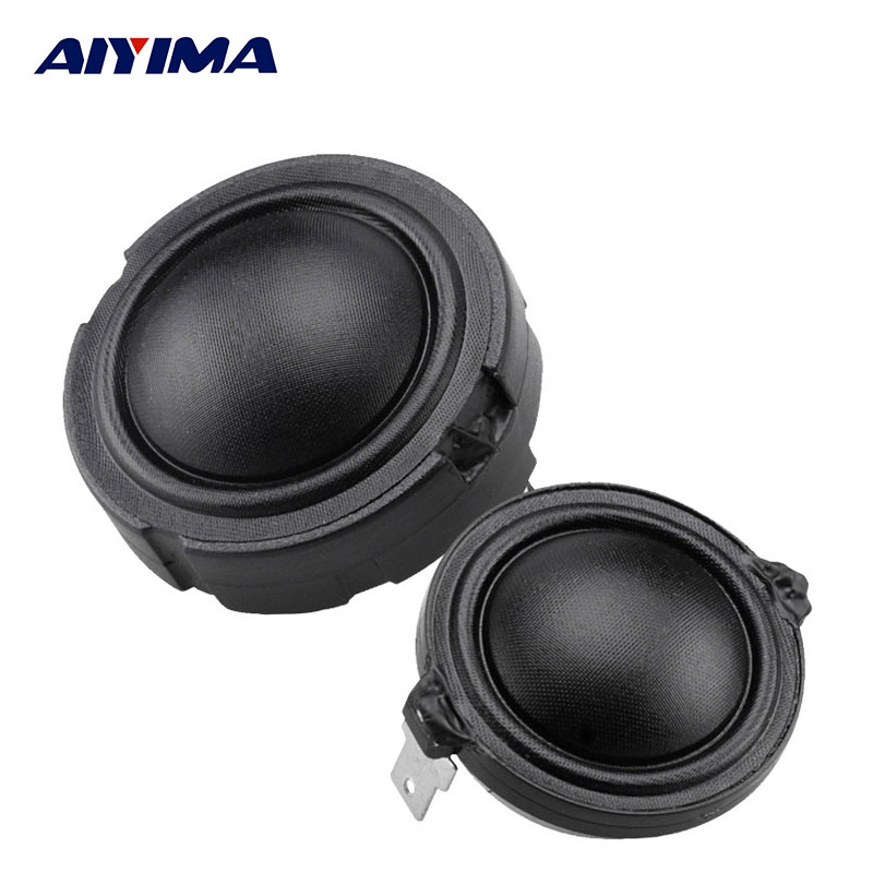 AIYIMA 2Pcs 1.5inch Audio Speakers 4Ohm 80W 25Core Membrane Fiber Rubidium Speaker Magnet HiFi Peminat Treble Tweeter Head