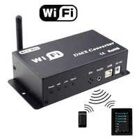 WiFi DMX コンバータ led コントローラ 12v の android や ios システム制御 wifi 信号変換 dmx 信号 led ランプ出力 dmx512