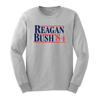 Loo Show Mens Republikeinse Presidentiële Campagne Reagan Bush 84 Lange Mouwen T-Shirts Casual Mannen Tee