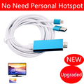 Phone Video Cable to HDMI TV Charger Adapter for iPhone 6 6S Plus 5 5S 7 Plus Ipad Air MiNI Pro to TV HDMI HDTV,NO need WiFi