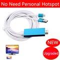 Teléfono cable de vídeo a hdmi tv adaptador de cargador para iphone 6 6 s plus 5 5S 7 plus ipad air mini pro para tv hdtv hdmi, sin necesidad de WiFi