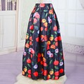 New Arrival High Waist Maxi Skirts Women's Spring Summer Bohemian Floral Print Long A Line Skirts Full Length