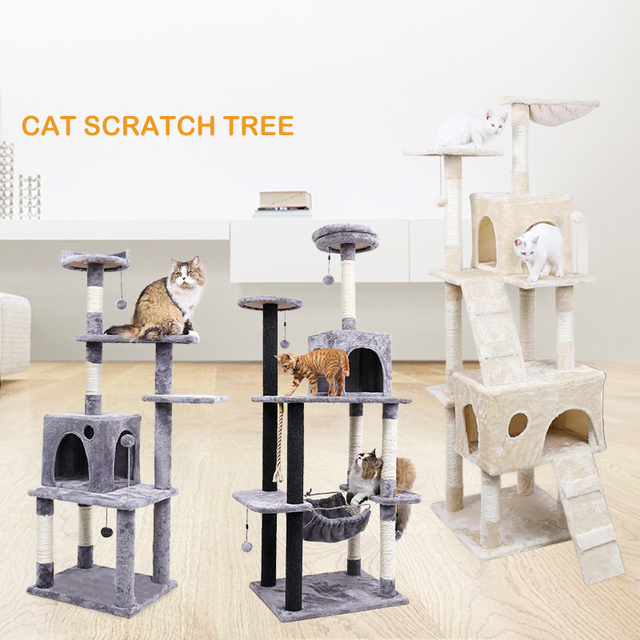 Domestic Delivery High Stability Constructed of E1 Grade Kitten Cat Tree Scratching Post Activity Centre Bed Toy