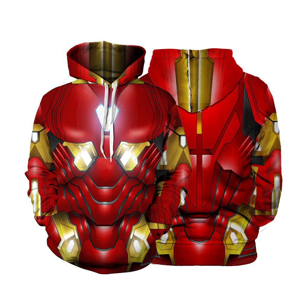 Iron Man Cosplay Costume Tony Stark hoodies Men Women Sweatshirts