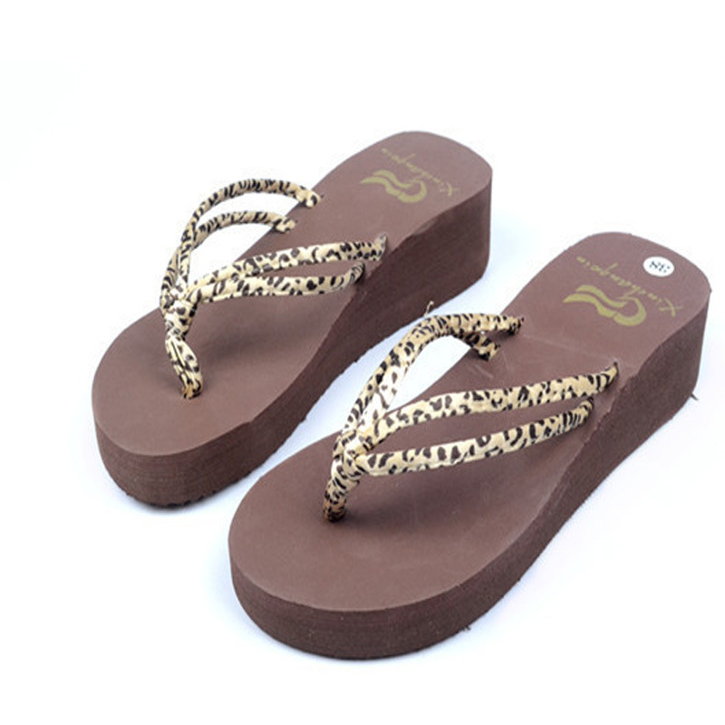 Summer Flip Flops Shoes Women Sandals Slipper Fashion Leopard Printed indoor & outdoor Flip-flops Women's Shoes WS216 yierfa fashion cork slipper sandals 2017 new summer women patchwork beach slides double buckle flip flops shoe white purple red