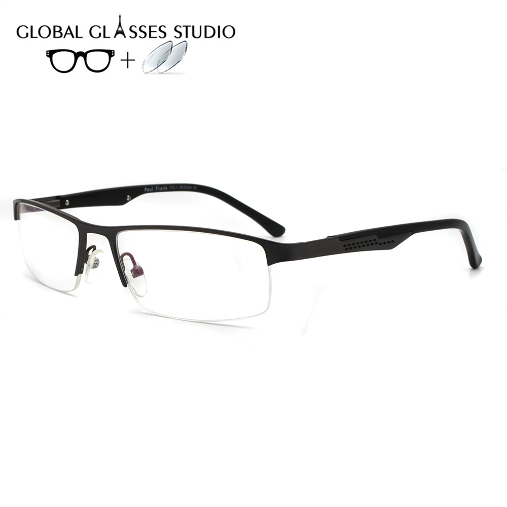 Men Metal  Glasses Frame Eyewear Eyeglasses Reading Myopia Prescription Lens 1.56 Index 5040 C4(China)