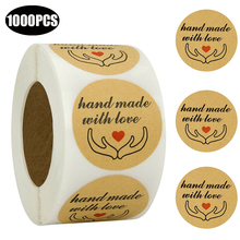 1000PCS Round 1 inch Handmade with Love Stickers Seal labels for Wedding party decoration DIY Gifts Packging Craft