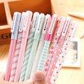 B34 Упаковка из 10 шт. Милый Цветок Красочные Гелевая Ручка Набор Kawaii Корейский Канцелярские Творческий Подарок Школьные Принадлежности