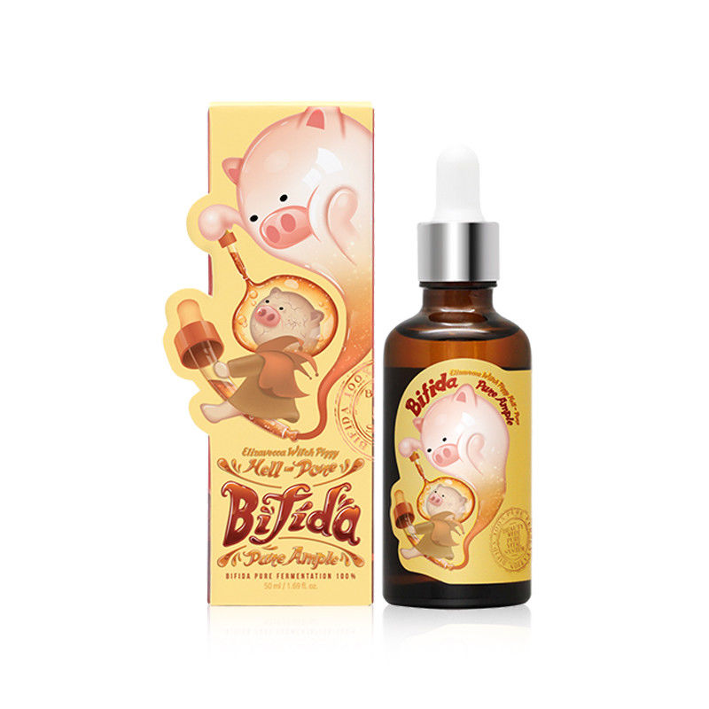 Korea Cosmetic ELIZAVECCA Hell Pore Bifida Pure Ample 50ml Facial Serum Anti Wrinkle Essence SkinCare Moisturize Whitening Cream ample pink