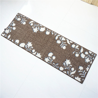 Long Anti skid Polyester Kitchen Mats Bathroom Rugs Extra Soft Non Slip Water Resistant Rubber Back Anti Slip Runner Area Rug