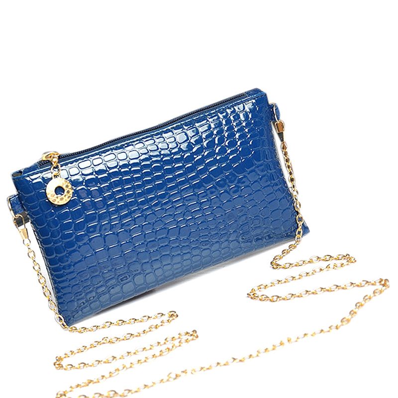 Womens Leather Baguette Bag Envelope Clutch Handbag For Ladies