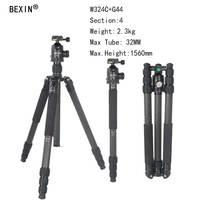 Bexin камера Professional Гибкая углеродное волокно путешествия штатив с шаровой головкой chang монопод для DSLR камеры компактный штатив
