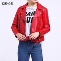 High Quality Womens Zipper Short Genuine Leather Sheepskin Sashes Streetwear New Fashion Ladies Blazer Multi Color