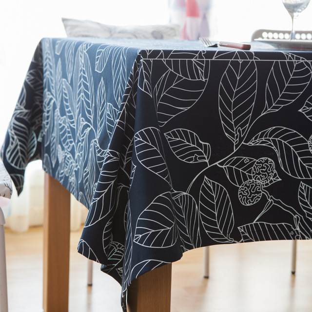 Customizable Art Leaf Pattern Table Cloth Pastoral Southeast Asia Simple  Home Decorative Table Covers Square Leaves