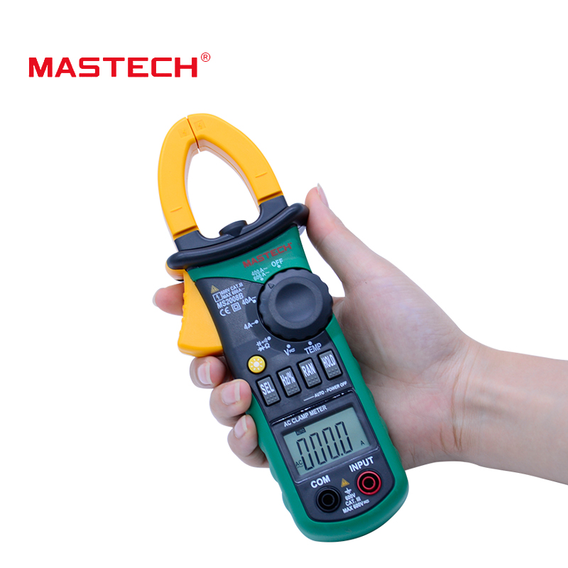Mastech MS2108A Digital Clamp Meter Auto range Multimeter AC 400A Current Voltage Frequency clamp MultiMeter Tester Back aimo m320 pocket meter auto range handheld digital multimeter