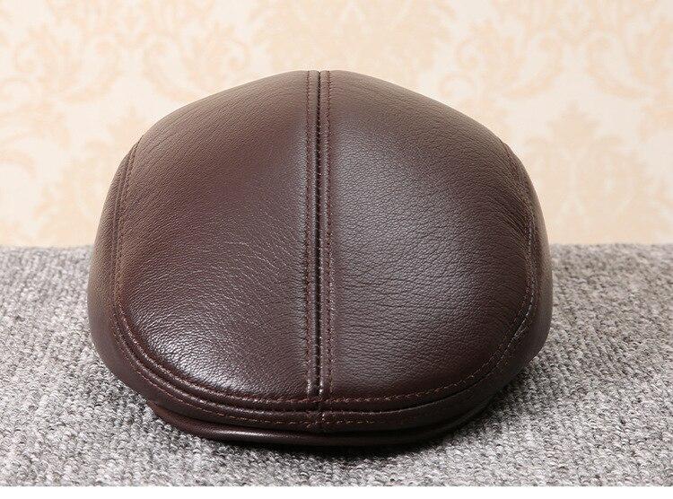 men natural Sheepskin beret (11)