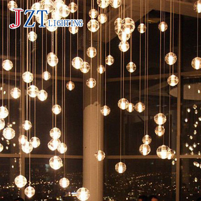 1pcs meteor crystal chandeliers guaranteed 100 magic crystal ball with bubble lustres de cristal home bubble lighting fixtures