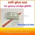 50 unids s7edge g9350 OCA adhesiva de doble cara etiqueta engomada del pegamento para samsung s7edge g9350 ''250um gruesa para el mit para formitsu pantalla