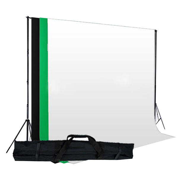 Top Deals Black White Green Cotton Backdrop Muslin Background Stand Kit for Photo Studio green top