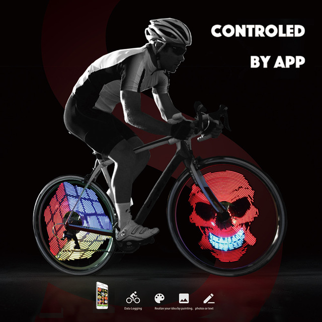 192pcs RGB LEDs Cycle Bike Bicycle Smart Light 2016 New 1 Set Colorful Wheel Spoke Light Programmable DIY Light Lamp Pattern