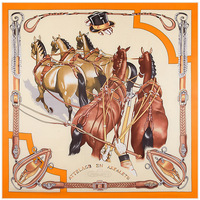 Cinco Cavalos pintados Splash-ink 100% Lenço de Seda Quadrado Bandana Pescoço de Alta Qualidade Vestido Moda Cachecóis Xale da Menina presente ZSFJ50