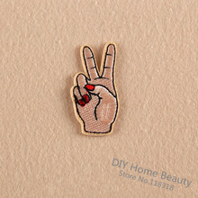 Peace Hand Clothes Embroidered Iron On Patches