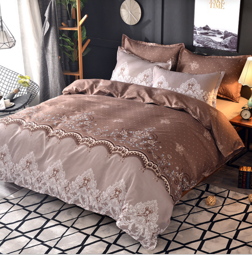 Bedding Sets King Double Size American style lace Single Double king Bed Luxury Bedding Kit Duvet Cover pillowcase Sheets Set