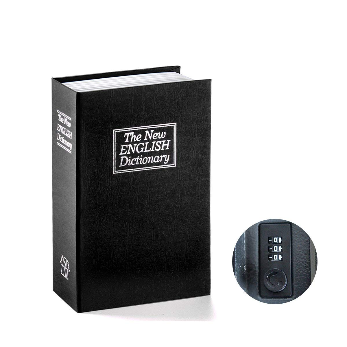 Book Safe With Combination Lock Dictionary Diversion Book Safe Portable Safe Box, Great For Storing Money Jewelry Passport