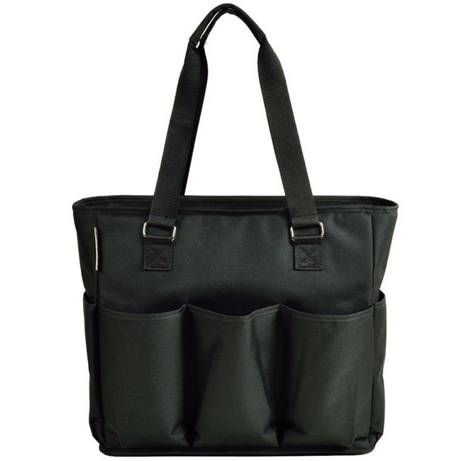 Picnic at Ascot 541-BLK Large Insulated Multi Pocket Travel Bag Black paddington at large
