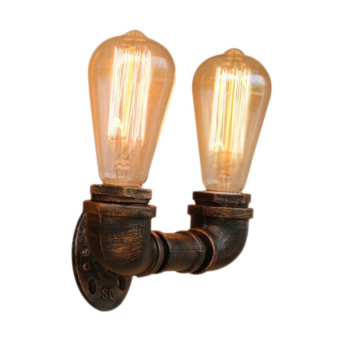 Bg804 Retro Industrial Simple 110v-240v Antique Iron Pipe Small Wall Lamp Loft Light Bar Retro European And American Cafe Deco Lamps & Shades