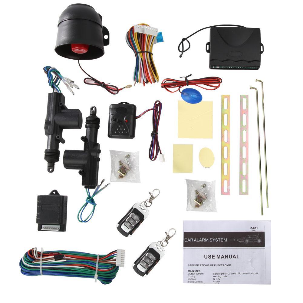 Kit de verrouillage centralisé à distance universel pour véhicule de voiture à 2 portes alarme antivol