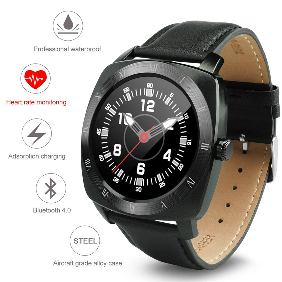 2016 Smart Watch DM88 font b Smartwatch b font for Iphone android phone Heart Rate Monitor