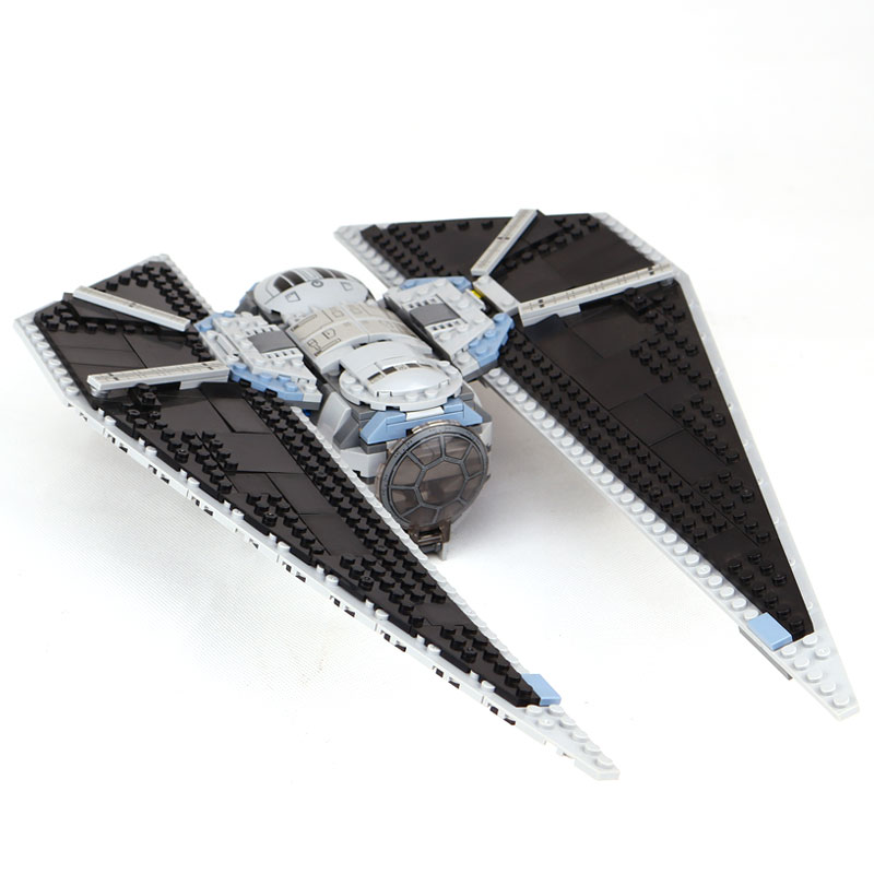 Lepin 05048 Star Classic Model Wars The TIE Striker Building Blocks Bricks legoinglys Toys Compatible with 75154 children Gift new lepin 16009 1151pcs queen anne s revenge pirates of the caribbean building blocks set compatible legoed with 4195 children