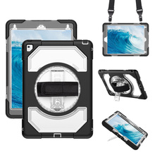For ipad Air2 Case with Shoulder Strap and 360 Adjustable Handle,Miesherk Soft Silicone+Hard PC Cover for ipad Air 2 9.7 inch miesherk case for air 2 kids safe with hand shoulder strap and stand shockproof full protective cover for ipad 9 7 inch coque
