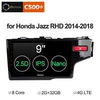 9 2.5D IPS Android 8,1 автомобильный DVD мультимедийный плеер gps для Honda Jazz 2014 2018 (правый руль) автомобильный аудио Радио Стерео navi
