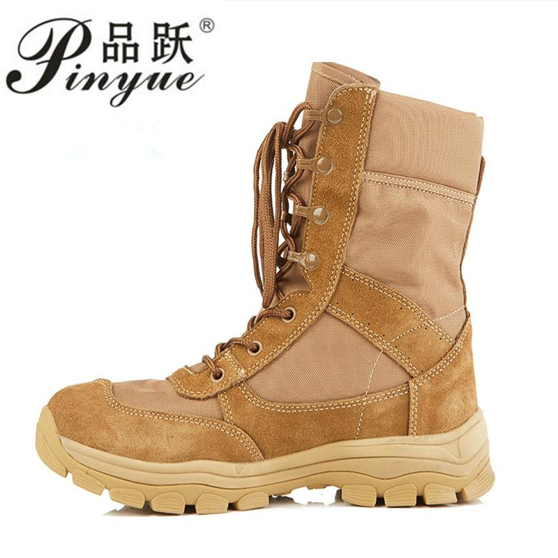 2019 New Men Outdoor Army Combat boots Trekking Hiking shoes Military Tactical boots Desert Ankle boots Mountain Climbing