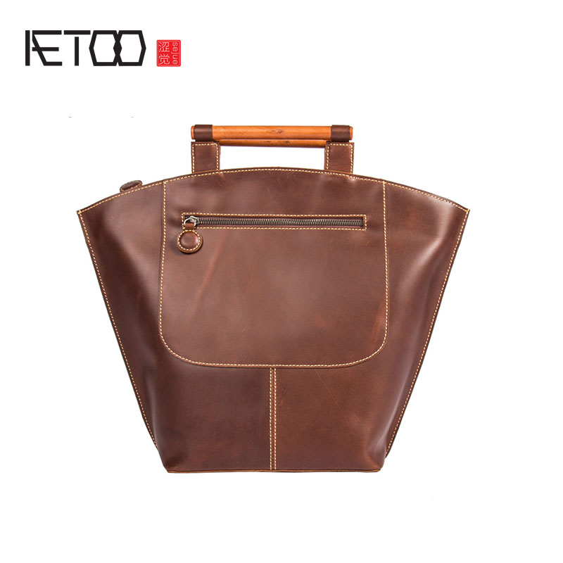 AETOO Original retro bag women's head layer of leather handbags hand leather leather bag shoulder bag iji 6 5x16 5x108 et50 d63 3 black