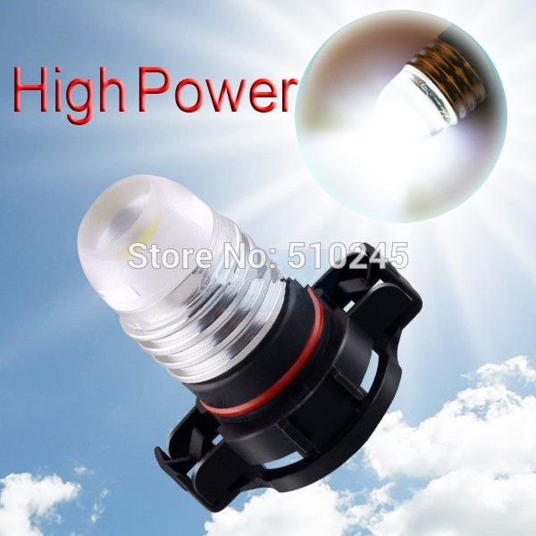 100X wholesale H16 Pure White 3W High Power 5202 5201 PSX24W DRL Fog Car LED Light Bulb Lamp free shipping