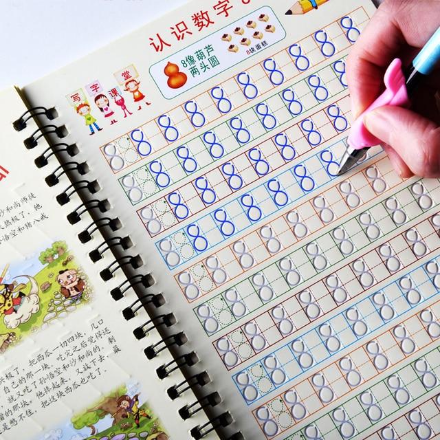 Cahier de calligraphie à chiffres numériques pour enfants, exercices de calligraphie, cahier de pratique, maternelle, préscolaire 0 10