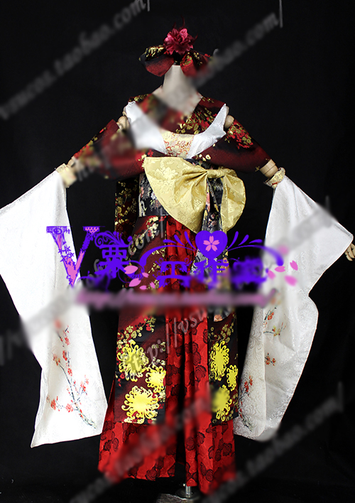 VOCALOID Kagamine Len Cosplay Costume Gorgeous Print Kimono Halloween Uniform Outfit Full Set Custom-made