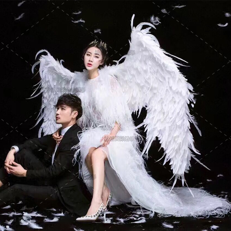 White Big Angle Wings Props DIY Customization for Cosplay photography Game Display Game Party Wedding brides wing costume props