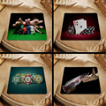 Hot 2016 Poker  mouse pad with edge locking for internet game and office use