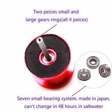 2017 Metal Saltwater Jigging Reel 7BB Drag 15kg Big Game Deep Sea Drum Trolling Reel Double Speed Jigging Reel Right Hand