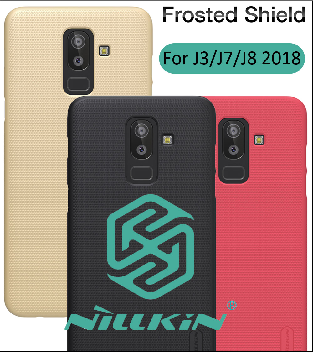 Nillkin Frosted Case For Samsung Galaxy J8 J7 J3 2018 Hard Plastic Back Cover Shield Shell