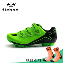Tiebao mężczyźni buty rowerowe MTB rower profesjonalne wyścigi sportowe zespół buty oddychające rower samoblokujący buty jeździeckie trampki|Buty rowerowe|   -