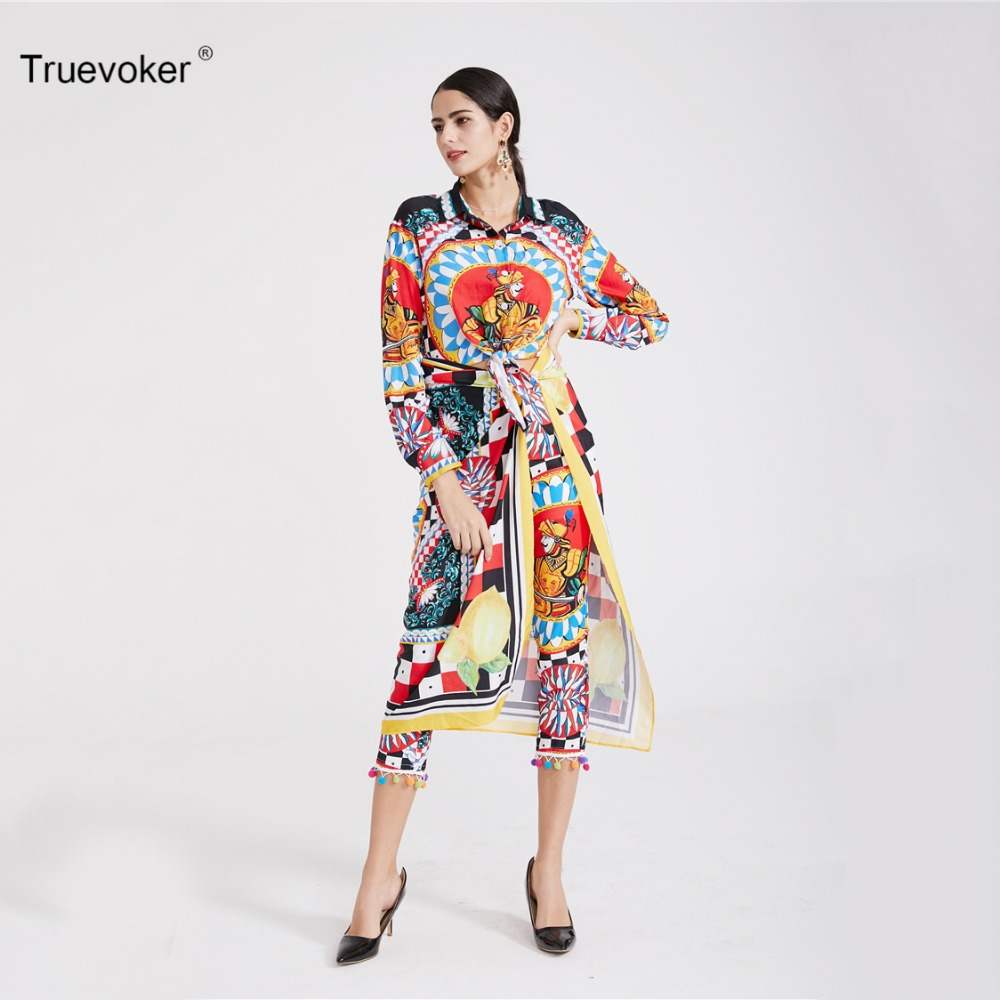 Truevoker Spring Designer Set Suit Women s Retro Ethnic Printed Crop Top  With Scarf + Pants Suit Holiday Resort Clothing SET-in Women s Sets from  Women s ... e1edaa91dbfc