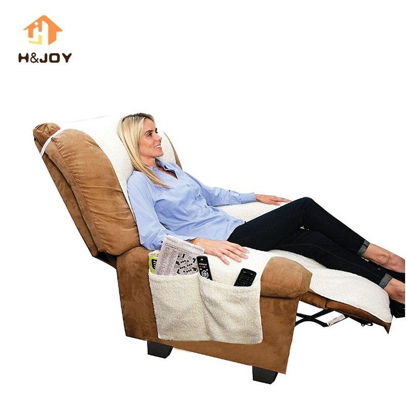 Sobakawa Snuggle Up Recliner Poly Fleece Comfort Chair