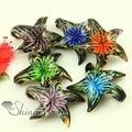 Starfish flower Italian venetian lampwork blown murano glass pendants for necklaces jewelry high fashion jewellery