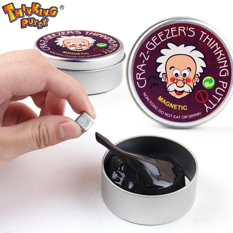 DIY магнитная слизь Полимерная глина интеллектуальные резиновая магнит Пластилин грязи волшебные руки Шпатлёвки Doh игрушки отказов детей подарок глупый Шпатлёвки