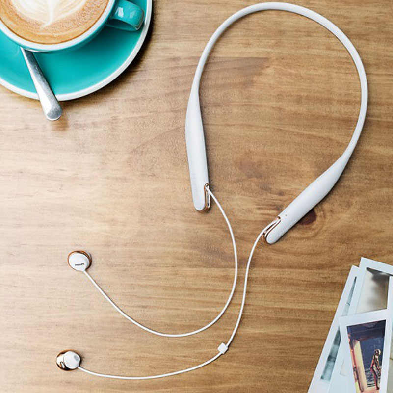 ... Philips SHB4205 in Ear earphone Neck Hanging Pleasant Wireless Bluetooth  Headset for huawei xiaomi Samsung Official 03eaf2f1d5